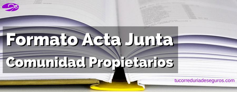 Formato Acta Comunidad Propietarios