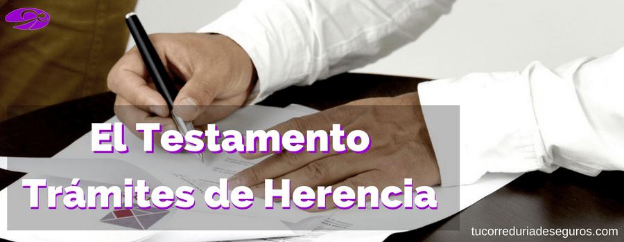 testamento tramites de herencia