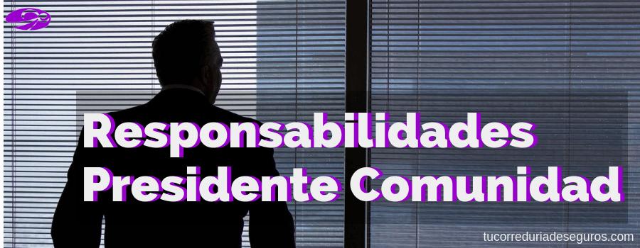 ¿Qué Responsabilidad Asume El Presidente De Una Comunidad De Propietarios?