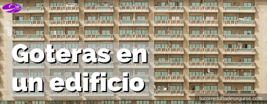 Diferentes Orígenes De Las Goteras En Un Edificio